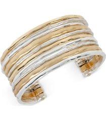 robert lee morris soho two-tone waide banded cuff bracelet