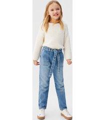 baggy jeans met ceintuur