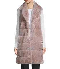 made for generation rex rabbit fur long vest