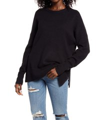 women's treasure & bond crewneck pullover, size x-large - black