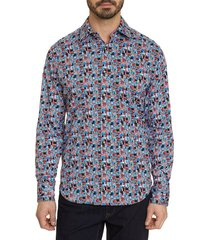 robert graham men's francesco classic-fit multi-print sport shirt - size xl