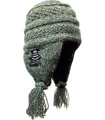 gorro de lana tnu verde matizado selk'n