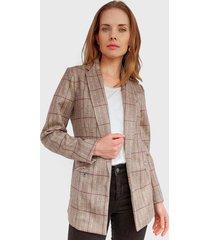 blazer ash burdeo - calce ajustado