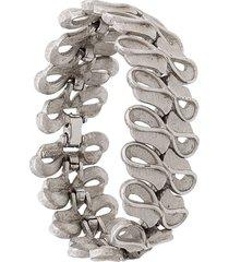 susan caplan vintage '1960s kramer bracelet - silver