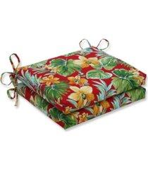 pillow perfect beachcrest poppy squared corners seat cushion, set of 2