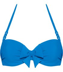 papillon plunge balcony bikini top | wired padded bright blue - 32dd/e