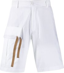 costumein flap pocket cargo shorts - white