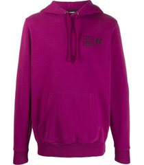 diesel graphic-print hoodie - purple
