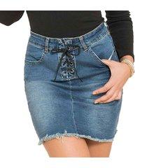 falda jessy azul para mujer croydon