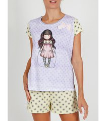 pyjama's / nachthemden admas pyjamashort t-shirt the overslaan rope santoro