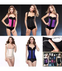 new women latex shapewear waist trainer cincher underbust body shaper vest
