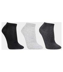 kit de meias cia da meia cano curto lisa 3 pares masculina
