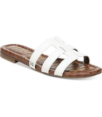 sam edelman women's bettie logo slide sandals women's shoes