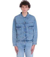levis oversize type ii trucker jacket denim in blue denim