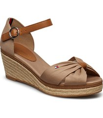 elba 40d* sandalette med klack espadrilles brun tommy hilfiger