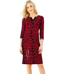 jurk amy vermont rood::zwart