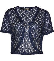 bolero in maglia con paillettes (blu) - bpc selection premium