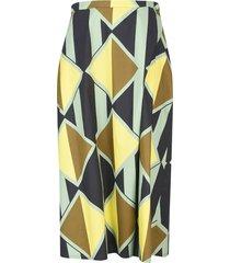 aspesi stripe & diamond printed skirt