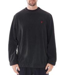 gramicci crew neck sweatshirt |black| 19f043-blk