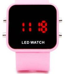 reloj digital rosado color rosado, talla uni