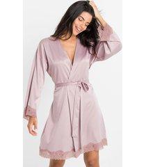 kimono in satin (viola) - bodyflirt