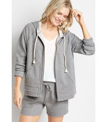 maurices womens heather gray zip up hoodie