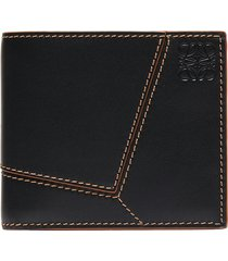 'puzzle' stitches bifold wallet