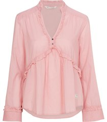 blus full frill blouse