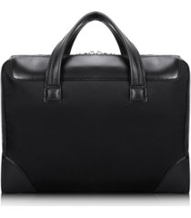 """mcklein harpswell, 17"""" dual compartment laptop briefcase"""