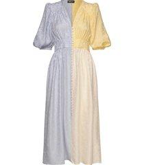isaia, 852 meadow silk jurk knielengte multi/patroon stine goya