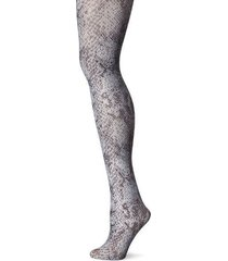 hue tights sz s / m grey multi glossy python tight nylon metallic tight u14828