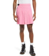 be proud by bp. pride gender inclusive pleated cotton twill skirt, size large in pink punch at nordstrom