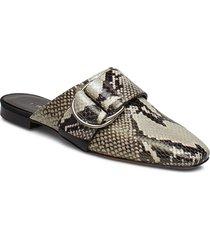 meta shoes mules & slip-ins flat sandals beige iro