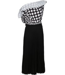 black and white viscose dress