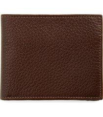 nordstrom midland rfid leather wallet in brown bean at nordstrom