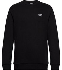 cl f small vector crew sweat-shirt tröja svart reebok classics