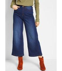 corrigerende stretch jeans, culotte