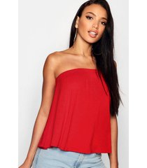 basic swing bandeau top, rood
