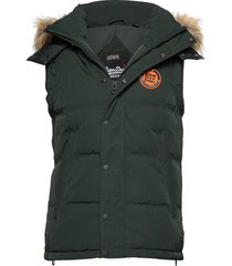 rookie down gilet vest groen superdry