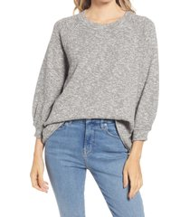 madewell telluride pullover sweater, size x-small in marled storm at nordstrom