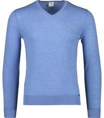 olymp trui level five blauw v-hals scheerwol