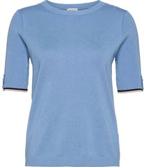 pullover short-sleev t-shirts & tops knitted t-shirts/tops blauw gerry weber