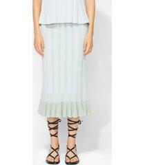 proenza schouler plissé knit skirt mint/white l