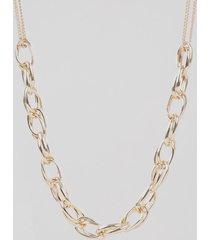 colar feminino com elos dourado