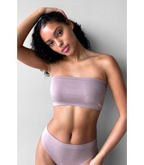 womens seamless nights bandeau bralette - mocha
