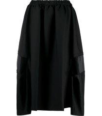 comme des garçons comme des garçons ruffle draped skirt - black