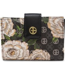 giani bernini floral signature framed indexer wallet, created for macy's