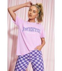 oversized sweetie t-shirt, purple