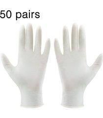 50 pares de guantes de látex desechables guantes de laboratorio de fábrica para trabajar
