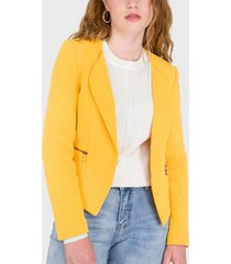 blazer io amarillo - calce regular